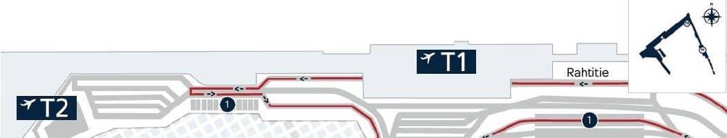 Ennakkotilauksen tai Kela-tilauksen hakeminen lentoasemalta